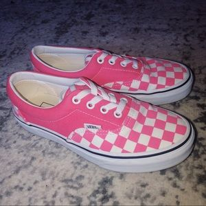 ❤️ VANS ❤️ Strawberry Pink Checkerboard 6.5